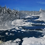Sheet Harbour Falls in Winter