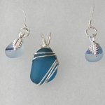 Beach Glass Jewelry Teal Set