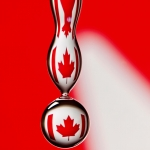 Canadian Flag Droplet
