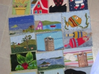 Fabric postcards from Sheet Harbour